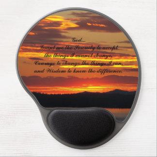 Tapis De Souris Gel Photo orange de coucher du soleil de prière de
