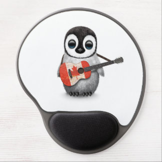 Tapis De Souris Gel Pingouin de bébé jouant la guitare canadienne de