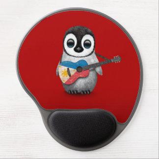 Tapis De Souris Gel Pingouin de bébé jouant le rouge philippin de