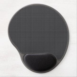 Tapis De Souris Gel Polymère noir et gris de fibre de carbone