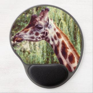 Tapis De Souris Gel Portrait pourpre de girafe, photographie animale