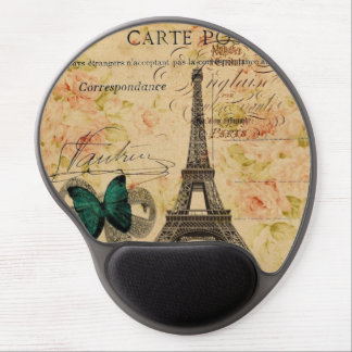 Tapis De Souris Gel provincial français de Tour Eiffel de Paris