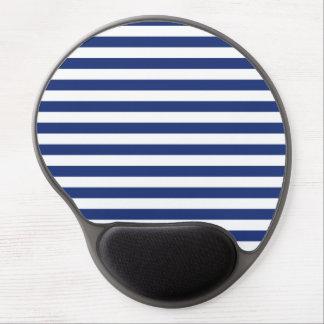 Tapis De Souris Gel Rayures bleues et blanches de point chanceux
