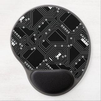 Tapis De Souris Gel Rétro carte noire d'ordinateur de cool de blanc