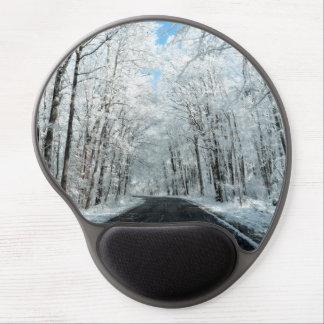 Tapis De Souris Gel Scène de route d'hiver de Milou