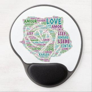 Tapis De Souris Gel S'est levé illustré avec le mot d'amour