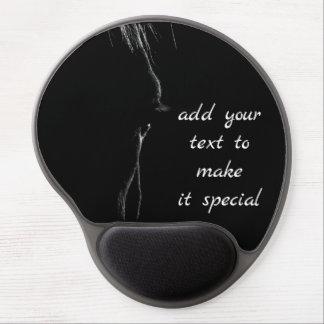 Tapis De Souris Gel Silhouette de cheval noir et blanc