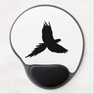 Tapis De Souris Gel Silhouette de perroquet