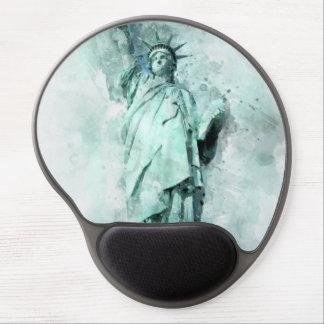 Tapis De Souris Gel Statue de la peinture de liberté