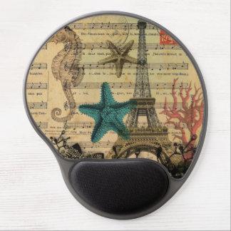 Tapis De Souris Gel Tour Eiffel tropical de Paris de coquillages