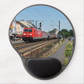 Tapis De Souris Gel Train de marchandises dans la maison crue au Rhin