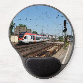 Tapis De Souris Gel Train des personnes dans la maison crue au Rhin