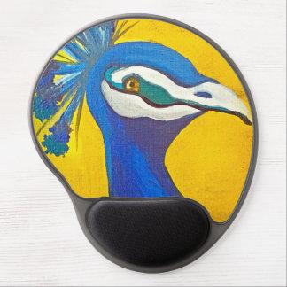 Tapis De Souris Gel Turquoise et paon jaune
