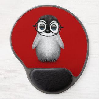 Tapis De Souris Gel Verres de port d'oeil de pingouin mignon de bébé