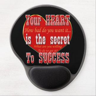 Tapis De Souris Gel Votre coeur est le secret au succès