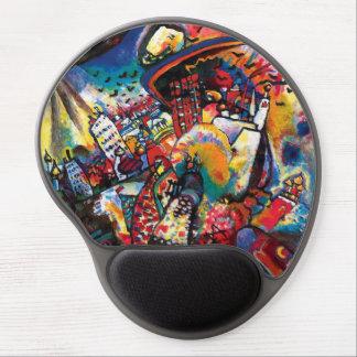 Tapis De Souris Gel Wassily Kandinsky - art abstrait de paysage urbain