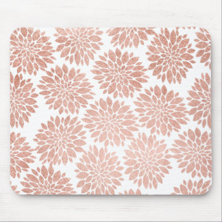 Tapis De Souris Géométrique abstrait floral de scintillement rose