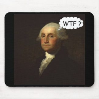 Tapis De Souris George Washington tournant dans sa tombe drôle