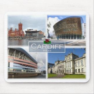 Tapis De Souris Gigaoctet Royaume-Uni - Pays de Galles - Cardiff -