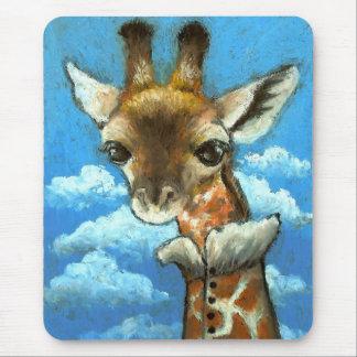 Tapis De Souris Girafe romantique