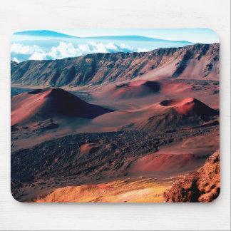 Tapis De Souris Gisements hawaïens de cratère de volcan