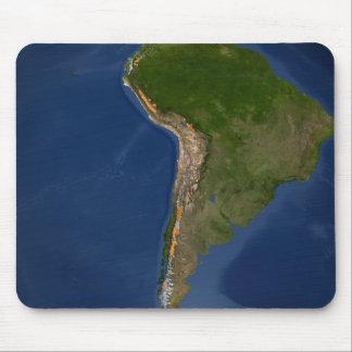 Tapis De Souris Glaciers dans les régions de l'Amérique du Sud