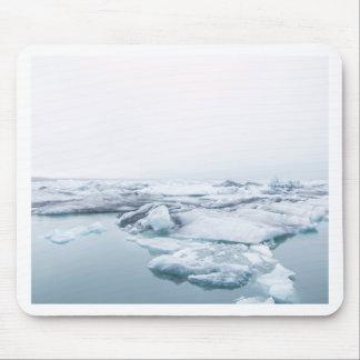 Tapis De Souris Glaciers de l'Islande - blanc