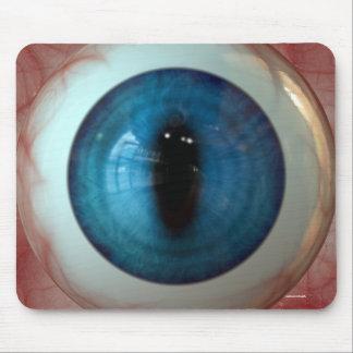 Tapis De Souris Globe oculaire bleu déplaisant d'amusement -