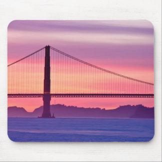 Tapis De Souris Golden gate bridge au coucher du soleil