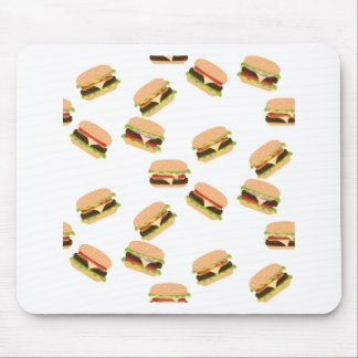 Tapis De Souris Grand hamburger savoureux