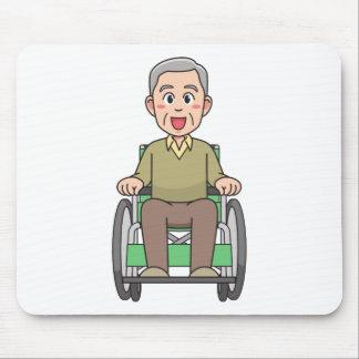 Tapis De Souris Grand-père dans le fauteuil roulant