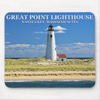 Tapis De Souris Grand phare de point, Nantucket, mA Mousepad