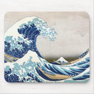 Tapis De Souris Grande vague outre des beaux-arts de Japonais de