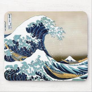 Tapis De Souris Grande vague reconstituée outre de Kanagawa par