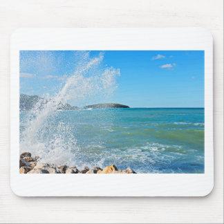 Tapis De Souris Grande vague sur la mer bleue
