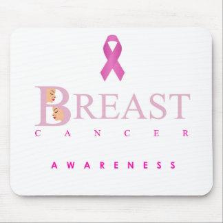 Tapis De Souris Graphique de conscience de cancer du sein dans des