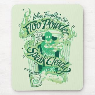Tapis De Souris Graphique de typographie de poudre de Harry Potter
