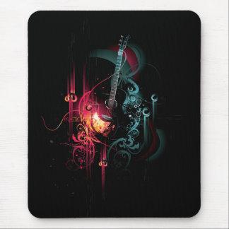 Tapis De Souris Graphique frais de musique avec la guitare