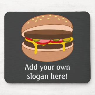Tapis De Souris Graphique personnalisable d'hamburger