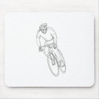 Tapis De Souris Griffonnage de emballage de bicyclette de route