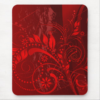 Tapis De Souris grunge rouge