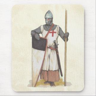Tapis De Souris Guerrier médiéval de Templar de chevaliers