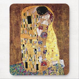 Tapis De Souris Gustav Klimt - le baiser - art vintage Nouveau