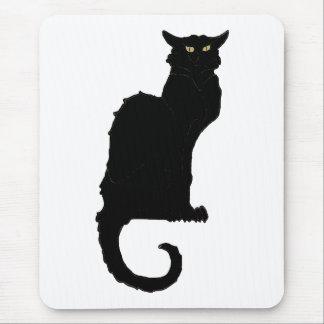 Tapis De Souris Halloween vintage, chat noir de Nouveau d'art