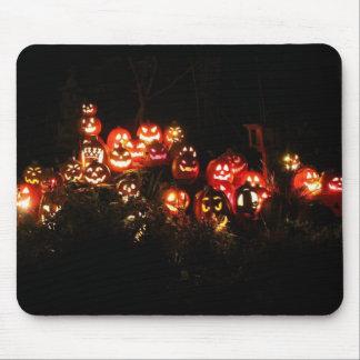 Tapis De Souris Hallween Jack-o'-lantern recueillant Mousepad