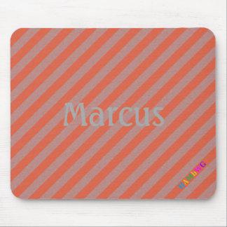 Tapis De Souris HAMbWG - souris d'ordinateur - diagonale orange