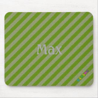Tapis De Souris HAMbWG - souris d'ordinateur - diagonale verte