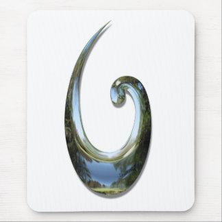 Tapis De Souris Hameçon maori - chrome
