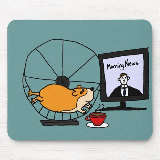 Tapis De Souris Hamster Drole De X Y Sur Une Satire De Roue Zazzle Fr