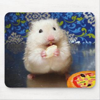 Tapis De Souris Hamster syrien pelucheux Kokolinka mangeant une gr